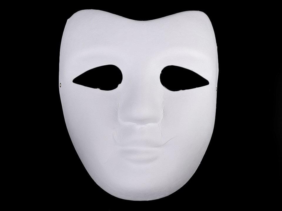 Maska na obličej k domalování, barva bílá
