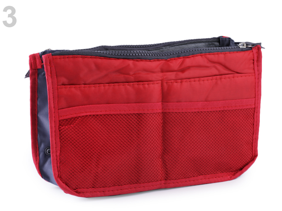 Organizér do kabelky 16x27 cm, barva 3 červená