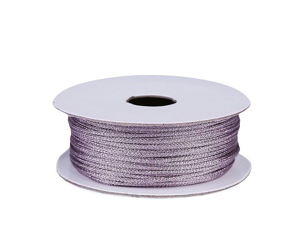 Lurexová šňůrka / provázek Ø1 mm, barva 4 fialová sv.