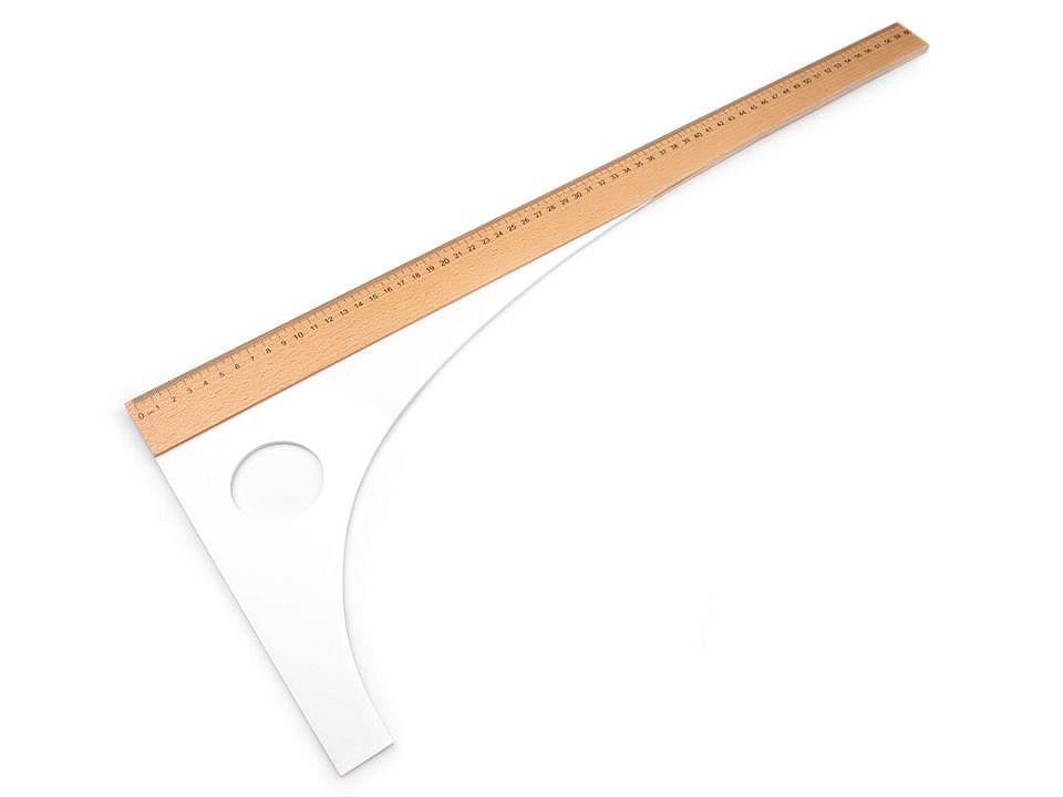 Krejčovský příložník délka 60 cm, 80 cm