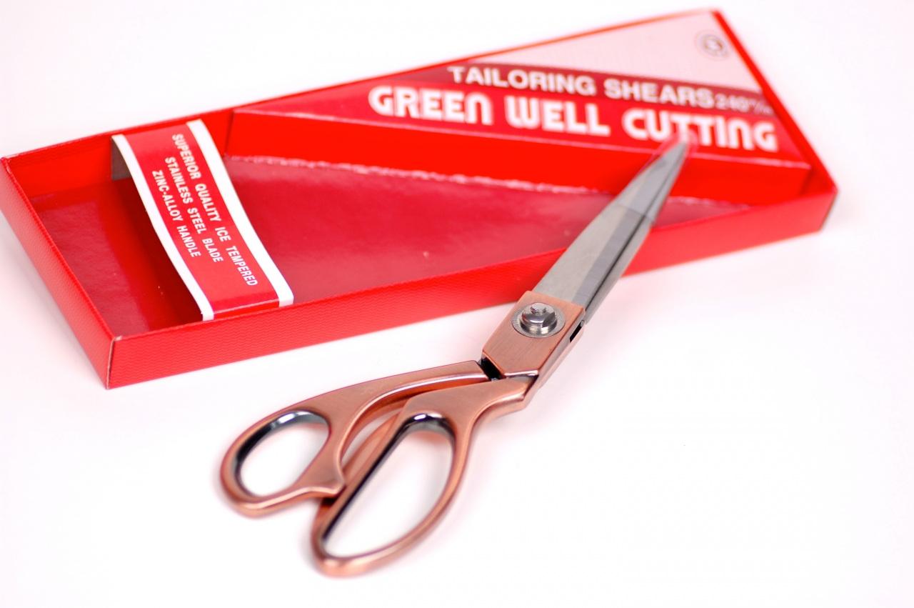 Nůžky krejčovské délka 24cm celokovové BRONZ