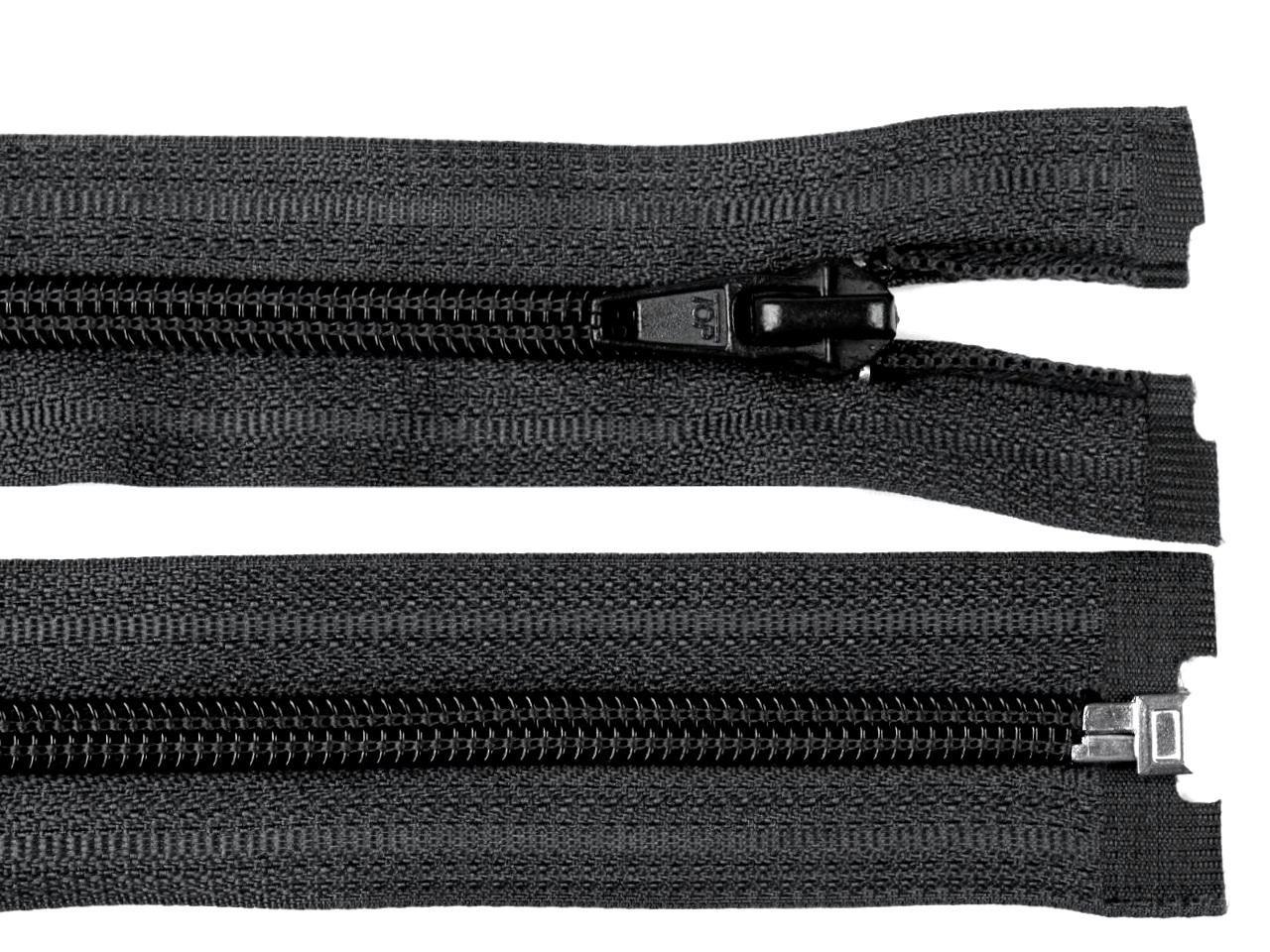 Spirálový zip šíře 5 mm délka 55 cm bílá a černá POL