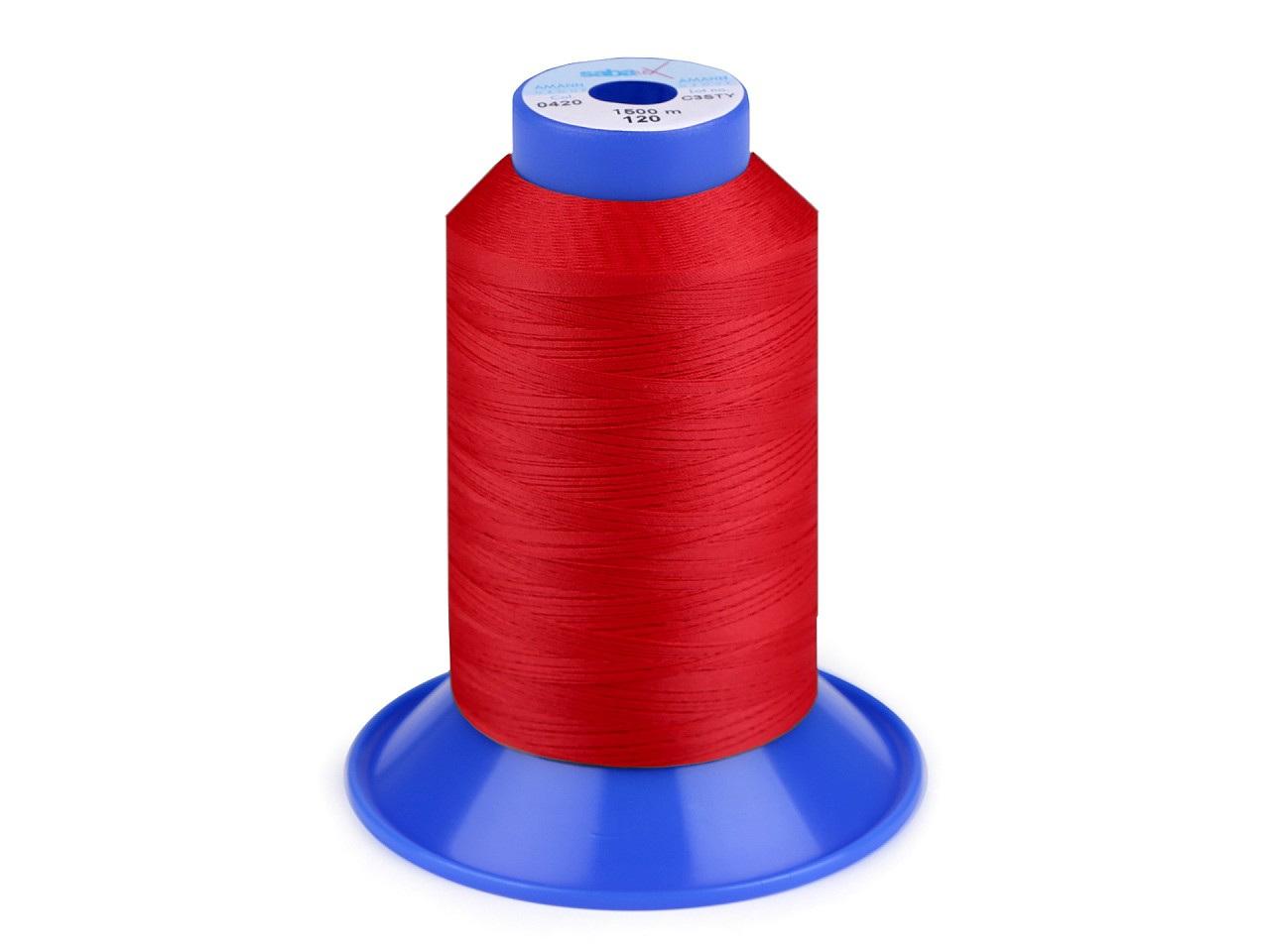 Nit elastická Sabaflex 120; 1500 m, barva 503 červená