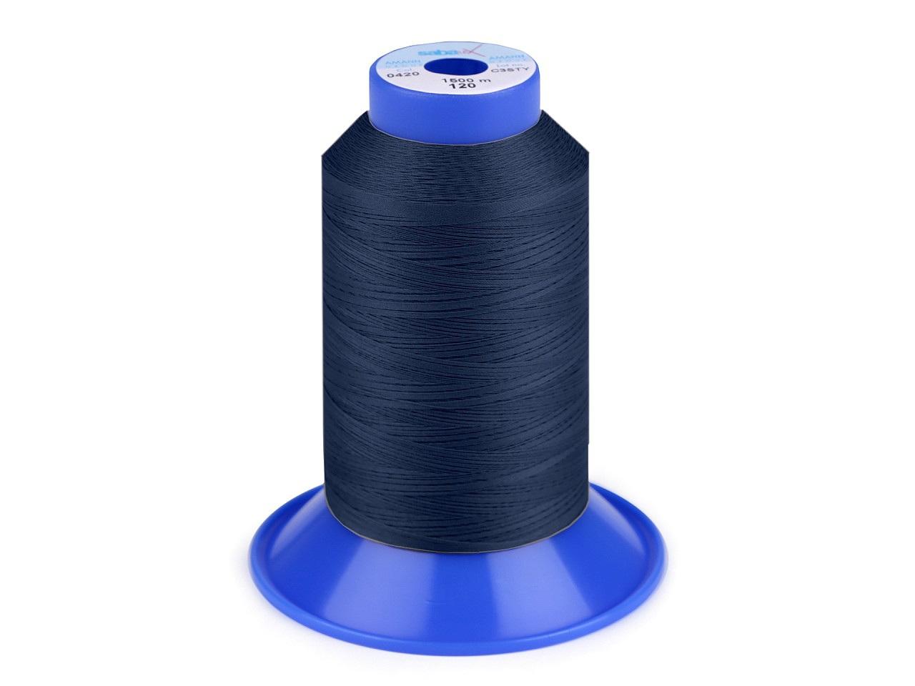 Nit elastická Sabaflex 120; 1500 m, barva 825 modrá pařížská