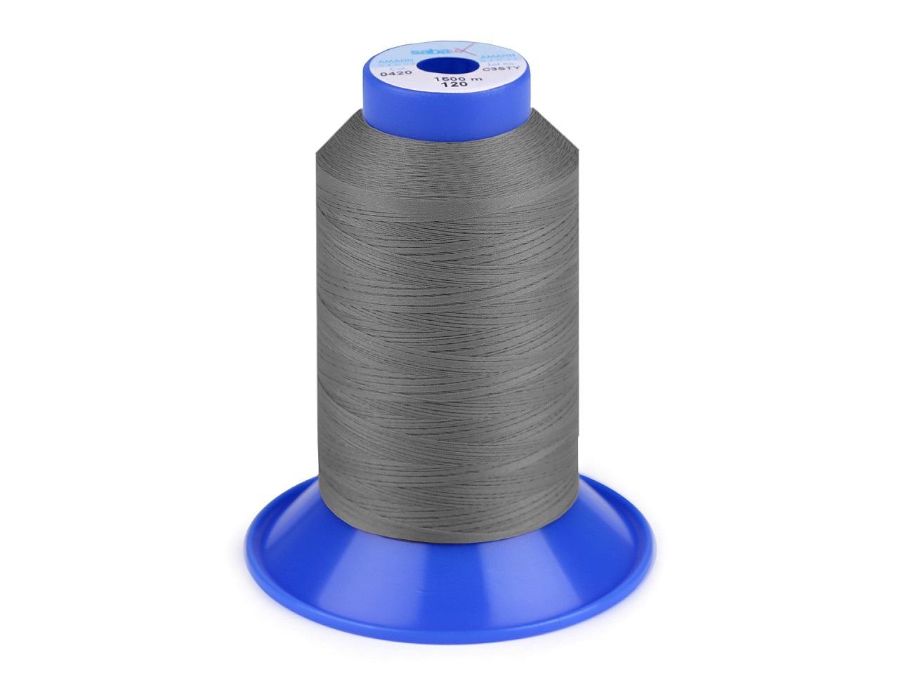 Nit elastická Sabaflex 120; 1500 m, barva 318 šedá stř.
