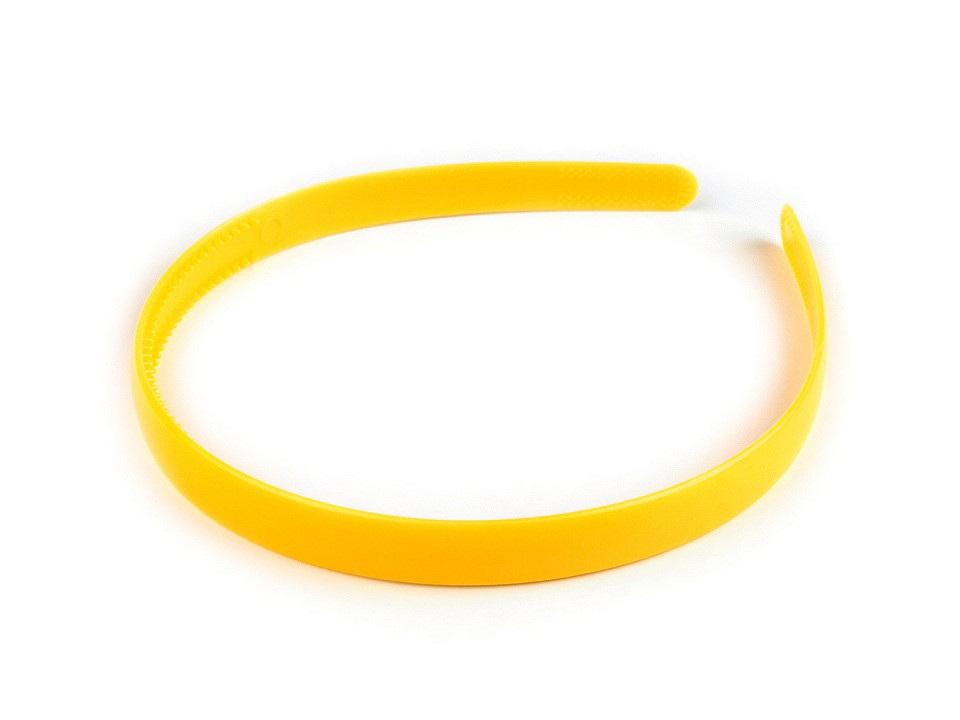 Plastová čelenka do vlasů, barva 2 žlutá narcisová