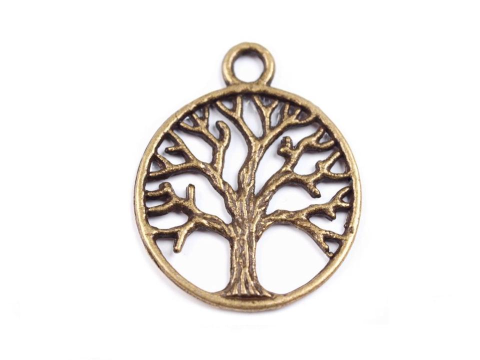 Přívěsek strom života Ø20mm, barva staromosaz
