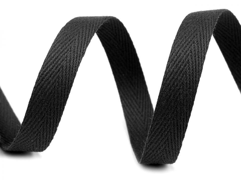 Keprovka - tkaloun šíře 12 mm, barva 7001 černá