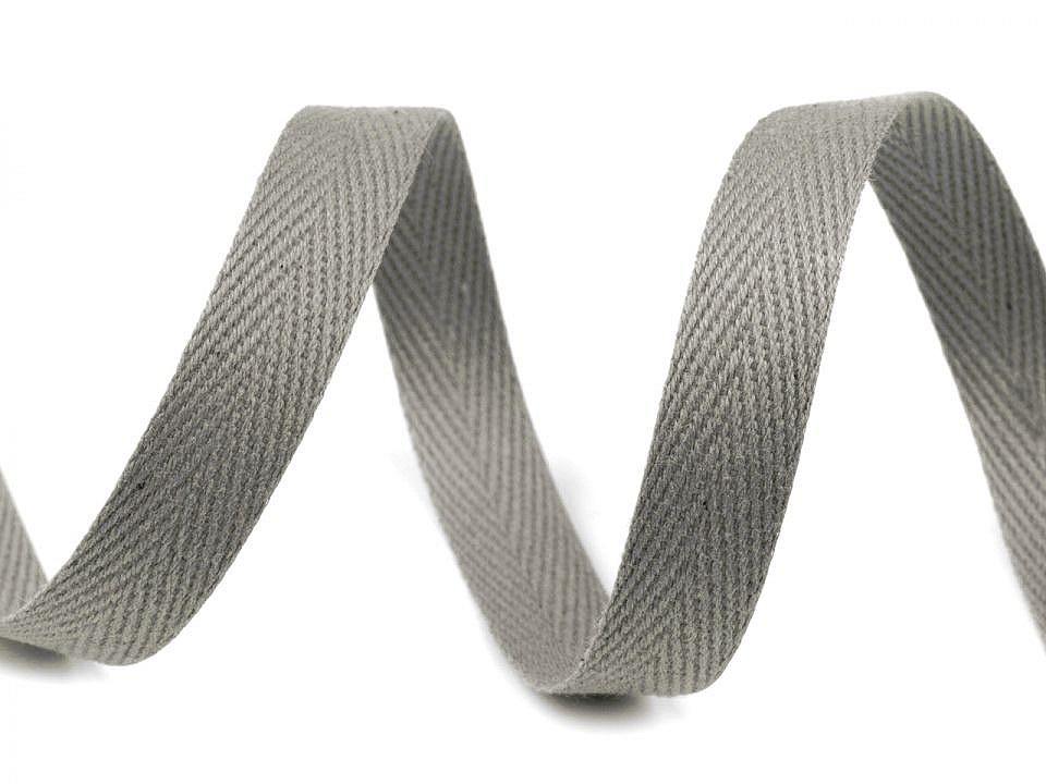 Keprovka - tkaloun šíře 12 mm, barva 4022 šedá paloma