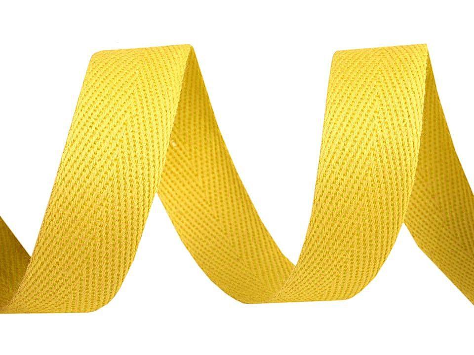 Keprovka - tkaloun šíře 16 mm, barva 4202 žlutá máslová