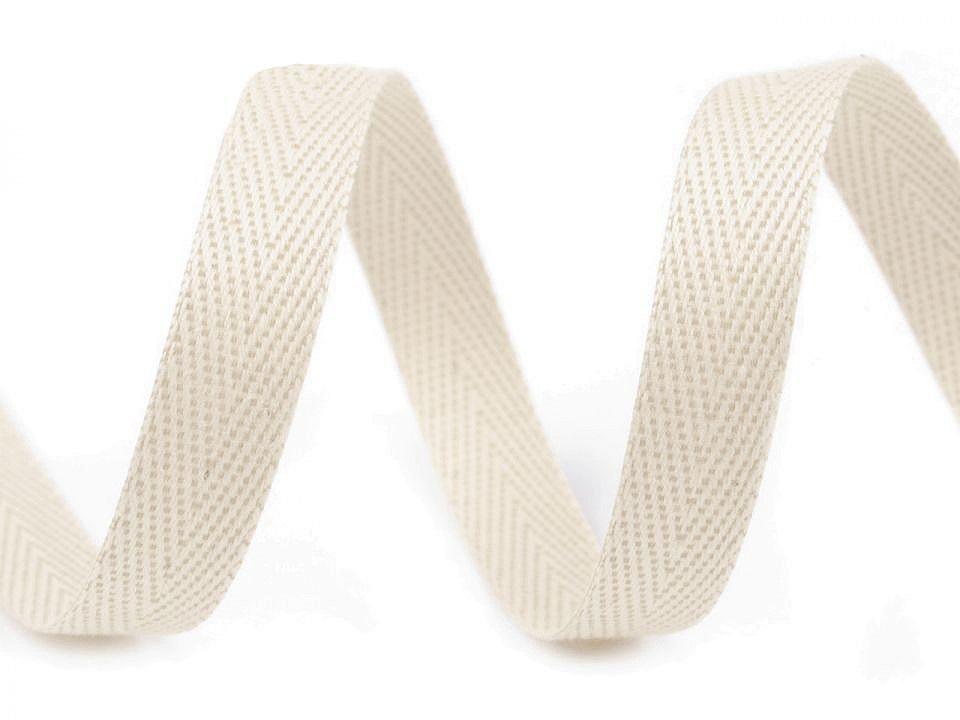 Keprovka - tkaloun šíře 12 mm, barva REZ00 režná světlá
