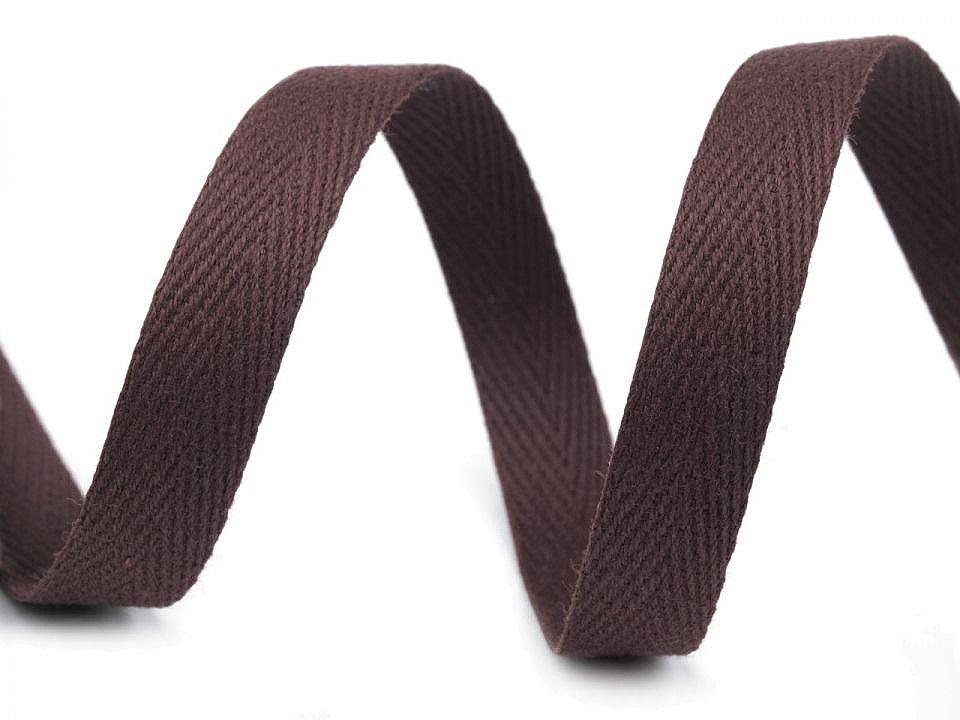 Keprovka - tkaloun šíře 12 mm, barva 7930 hnědá