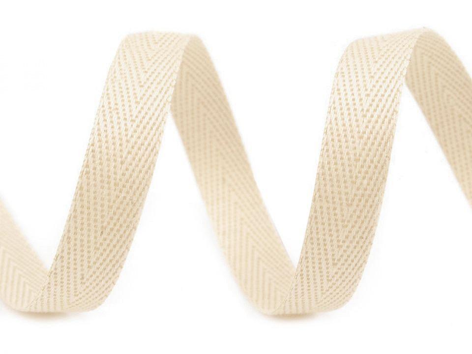 Keprovka - tkaloun šíře 12 mm, barva 1902 krémová