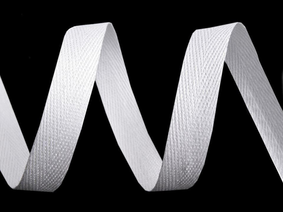 Keprovka - tkaloun šíře 12 mm, barva 1101 bílá