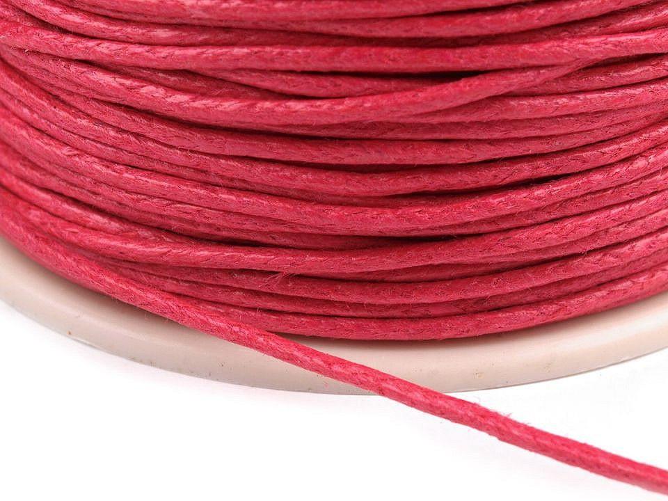 Šňůra bavlněná Ø1 mm voskovaná