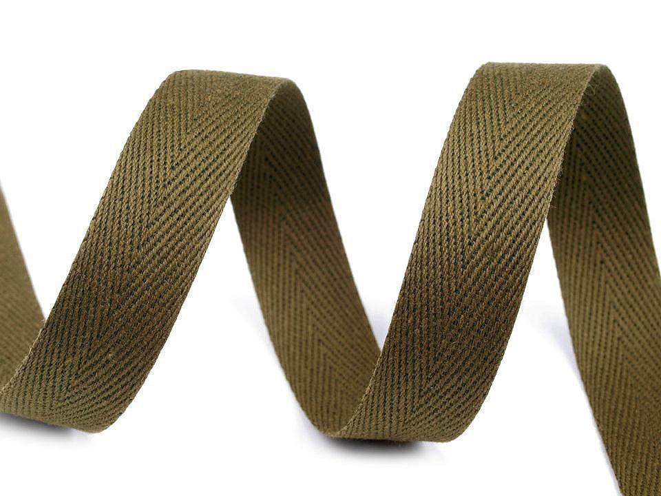 Keprovka - tkaloun šíře 16 mm, barva 4802 zelená olivová