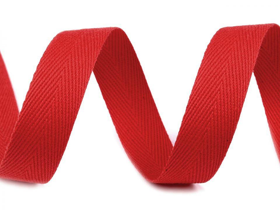 Keprovka - tkaloun šíře 18 mm, barva 7568 červená