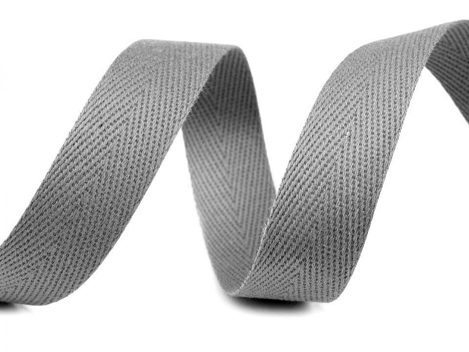 Keprovka - tkaloun šíře 18 mm, barva 4022 šedá paloma
