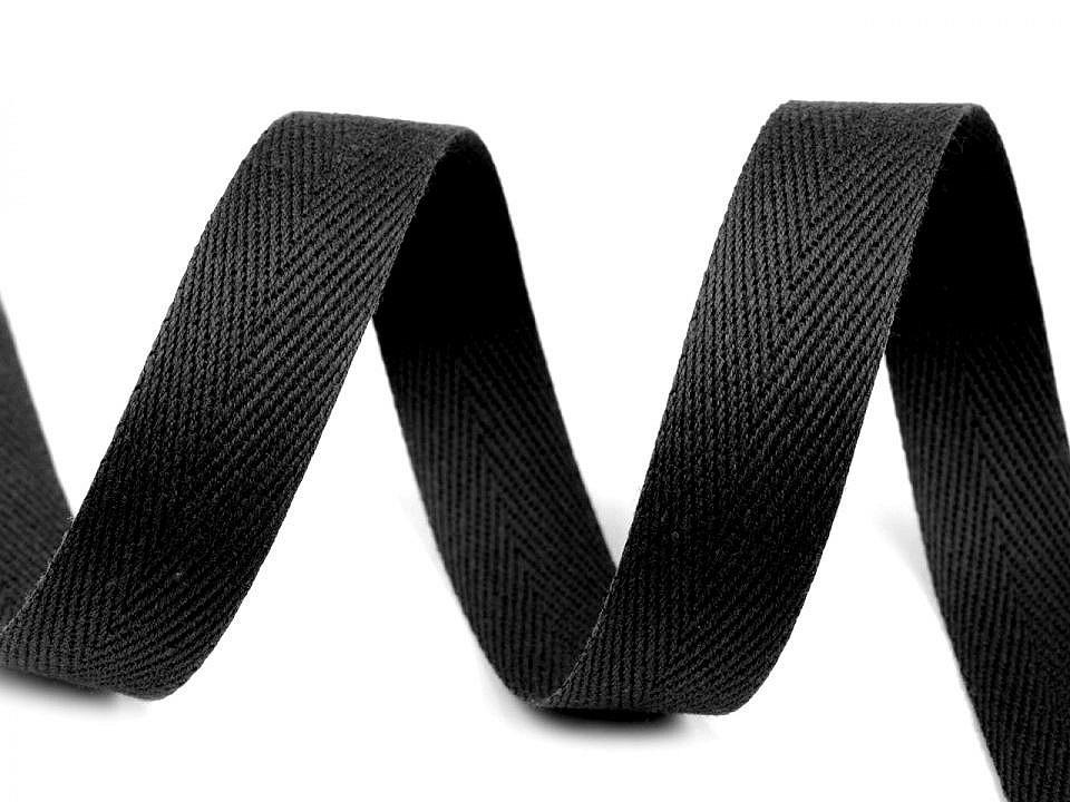 Keprovka - tkaloun šíře 18 mm, barva 7001 černá