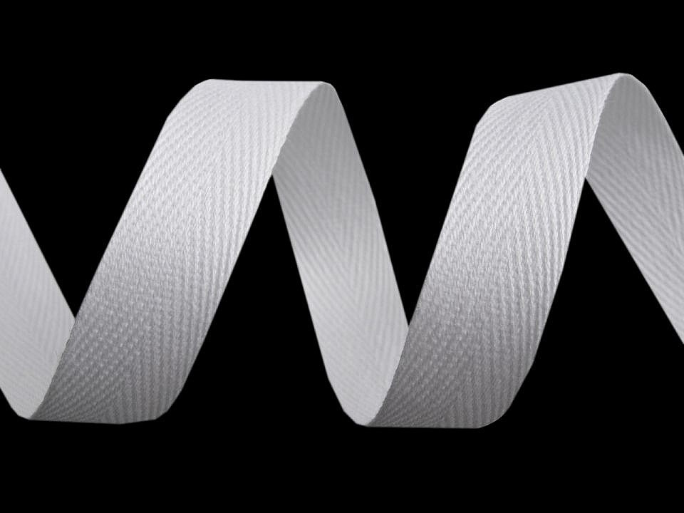 Keprovka - tkaloun šíře 18 mm, barva 1101 bílá