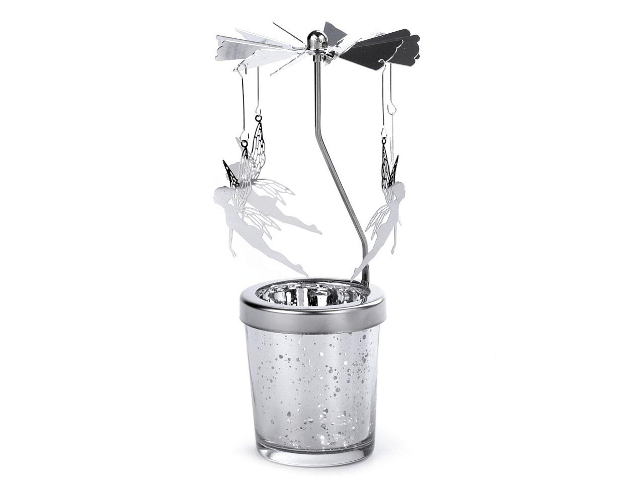 Andělské zvonění / vánoční kolotoč, barva 4 stříbrná víla