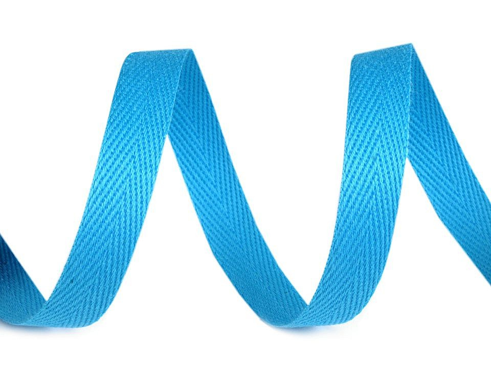 Keprovka - tkaloun šíře 10 mm, barva 1715 modrá azuro
