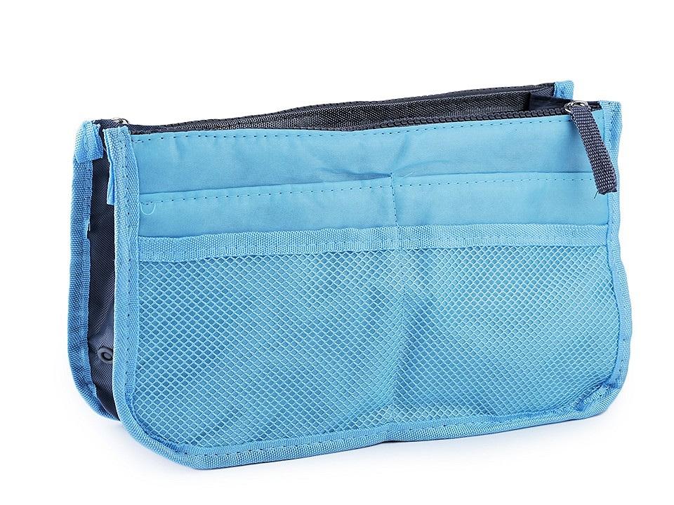 Organizér do kabelky 16x27 cm, barva 5 modrá azurová