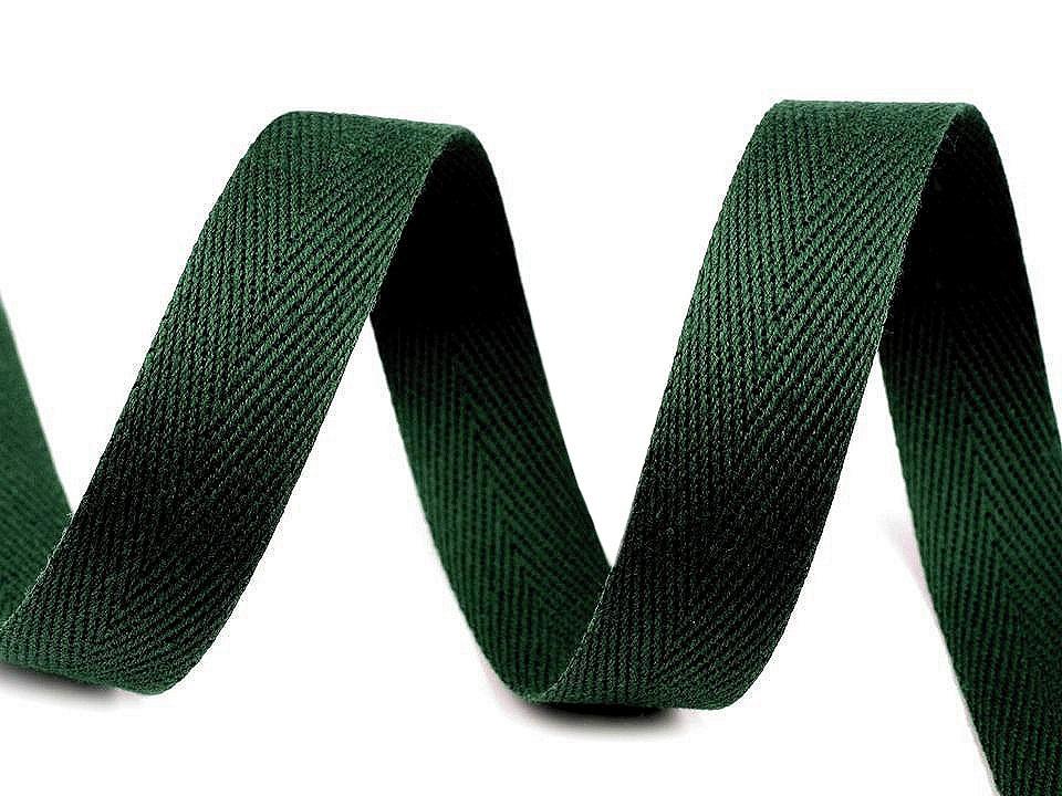 Keprovka - tkaloun šíře 16 mm, barva 7803 zelená piniová