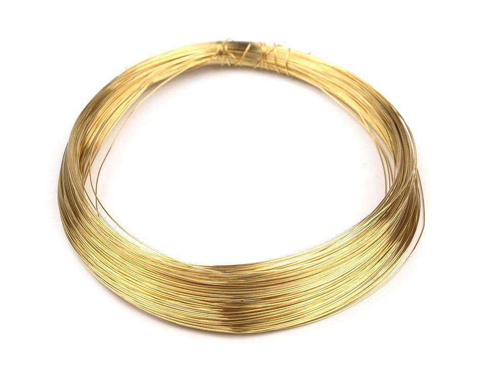 Drát Ø0,18 mm, barva 2 zlatá